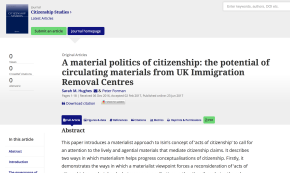 "New Release: Hughes, S. & Forman, P. (2017) ""A Material Politics of Citizenship"""