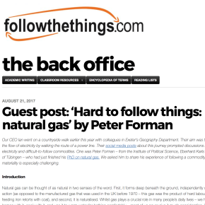 Hard to Follow Things: Natural Gas